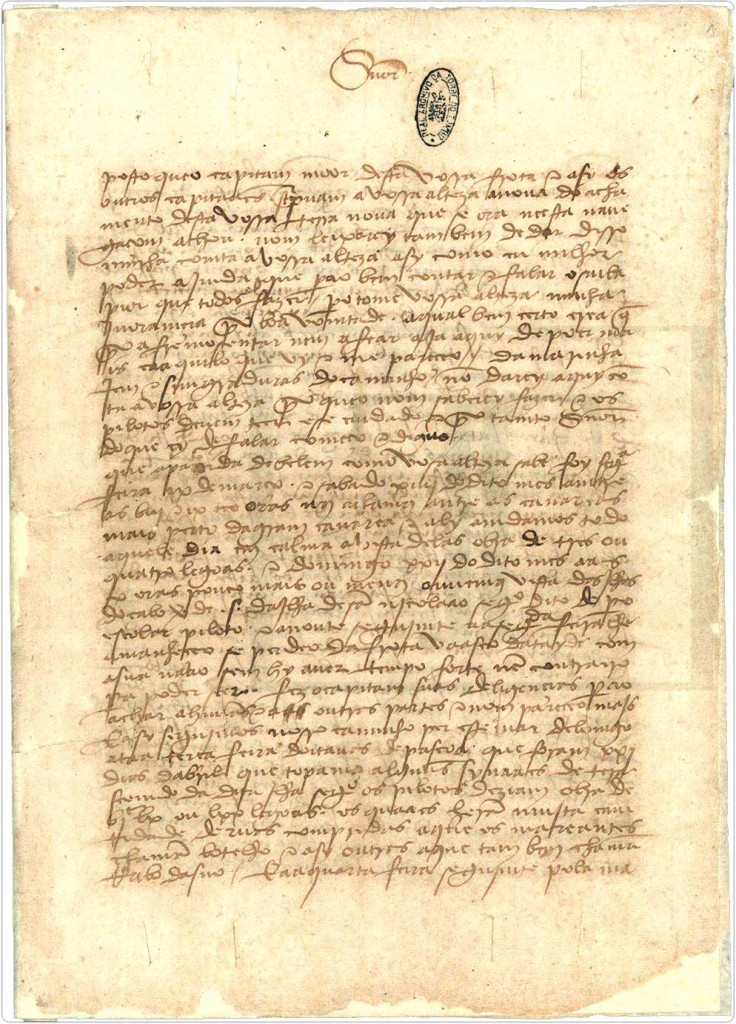A Carta de Pero Vaz de Caminha, primeira correspondência originária do Brasil.