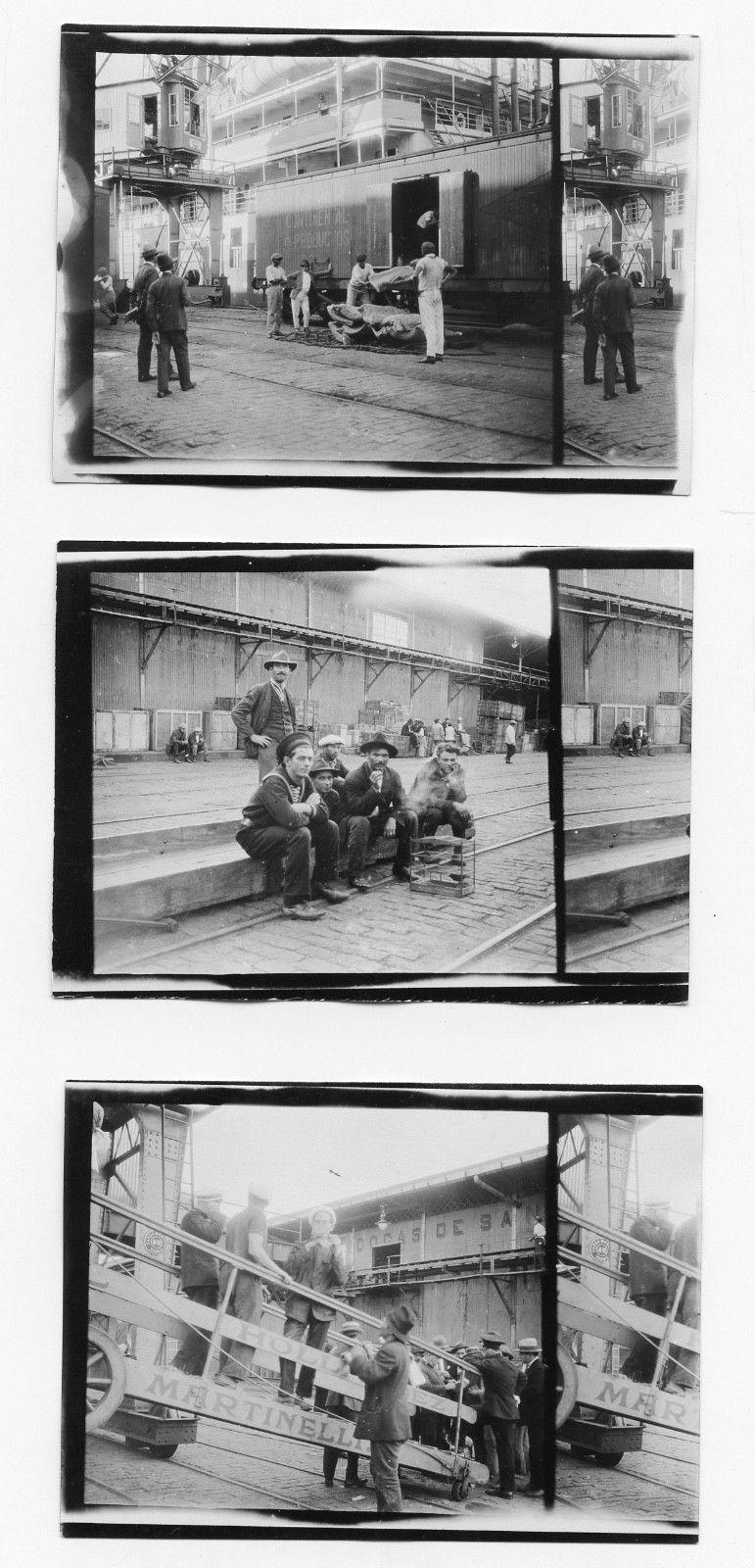 Trabalhadores no Porto de Santos. Fotos: J. Dearden Holmes.