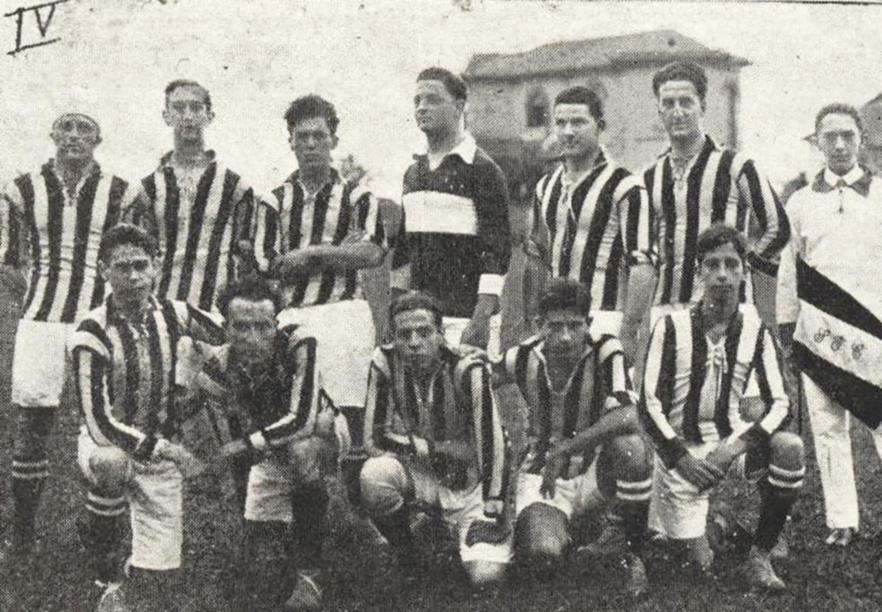 O primeiro quadro do Santos Futebol Clube em sua estreia no Campeonato Paulista de 1919, o quinto que disputava em sua história.
